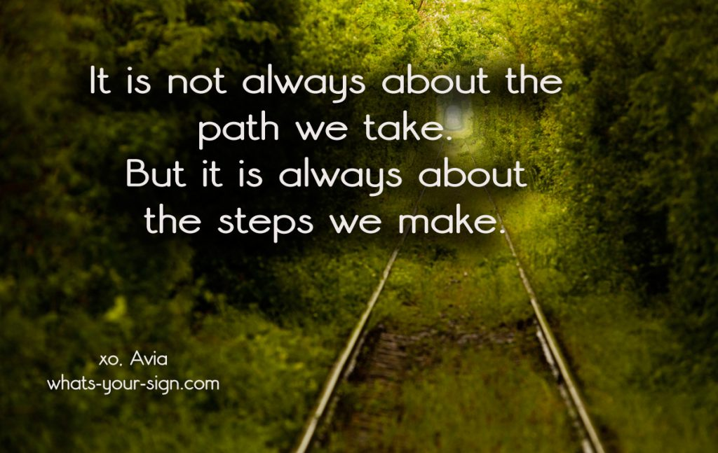 The steps we make